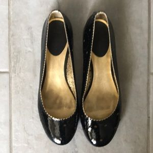 Cole Haan Black Patent Perforated Ballet Flats 10